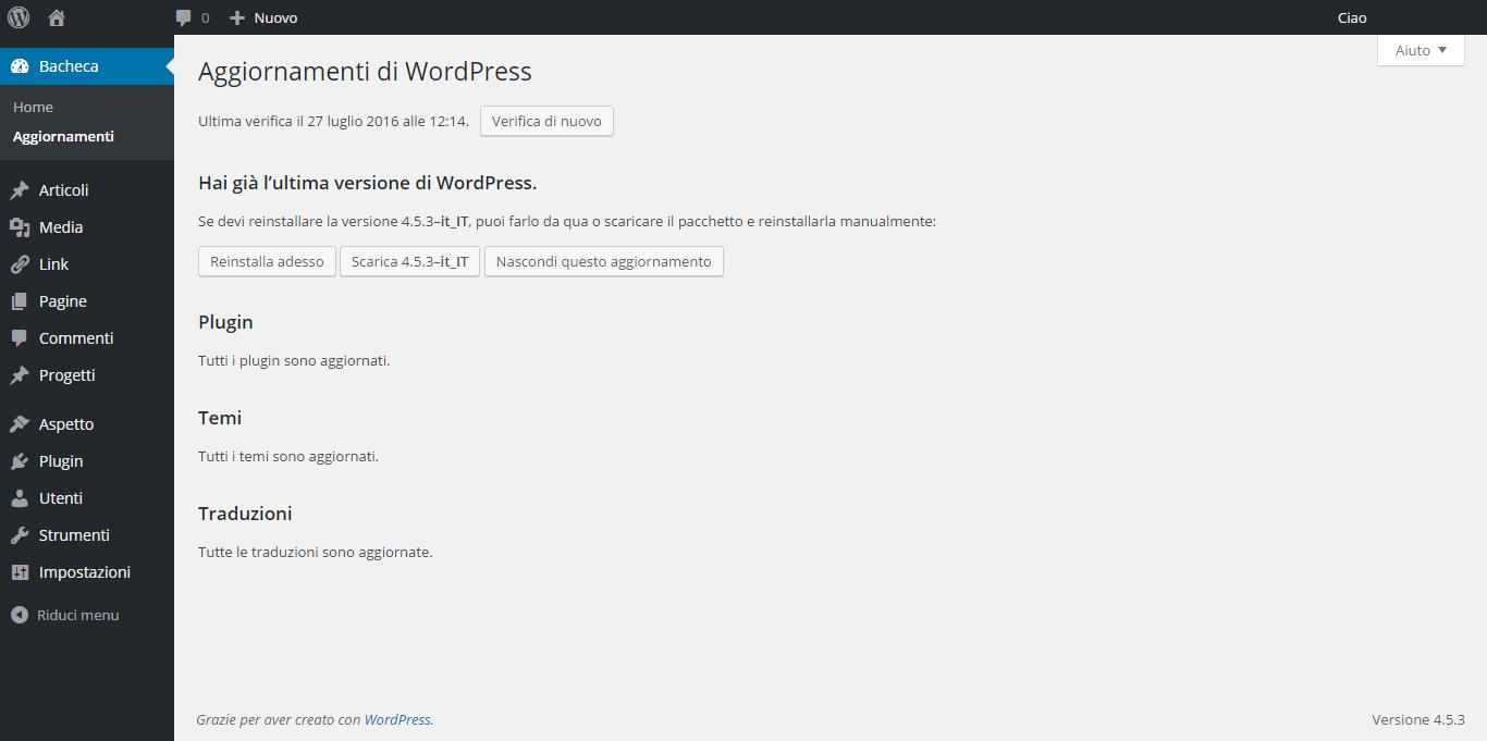3 + 1 fondamentali aggiornamenti di WordPress
